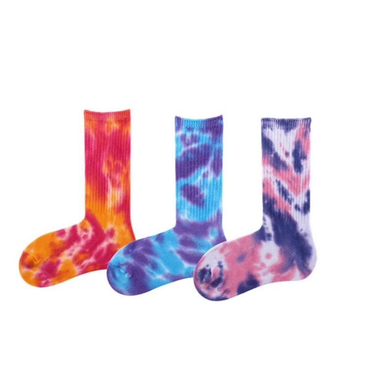 [해외]재미 커플 양말 복고풍 국가 스타일 크리 에이 티브 타이 염색 남성 캐주얼 양말 코튼 하라주쿠 남성과 여성의 무릎 높은 운동 양말/Funny Couples Socks Retro National Style Creative Tie Dye Men Casual Sock