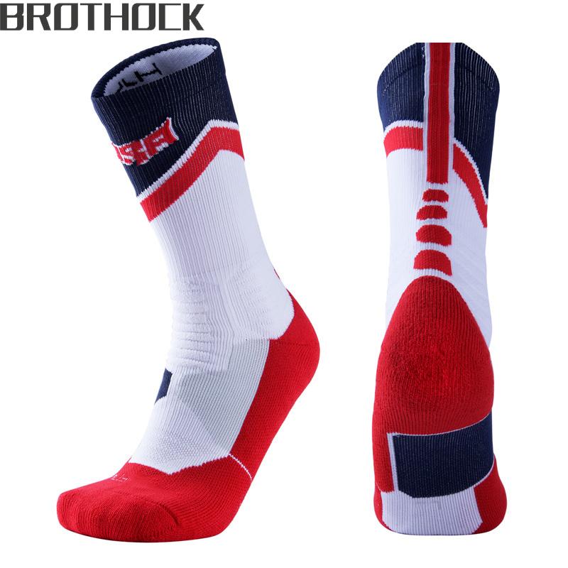 [해외]Brothock 미국 팀 농구 양말 전문 스포츠 양말 수건 스타킹 두꺼운 충격 흡수 엘리트 통기성 남성 양말/Brothock US team basketball socks professional sports socks towel stockings thickened