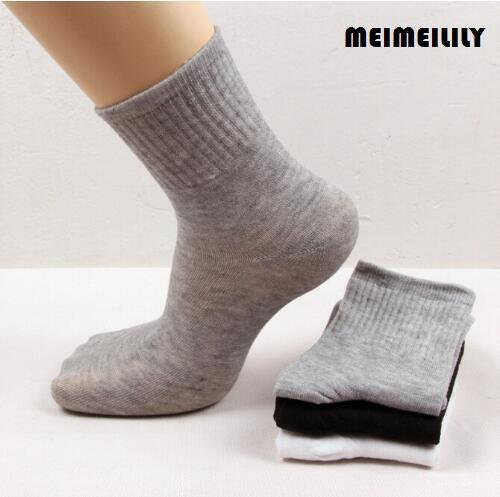 [해외]10 쌍 = 1 Lot 성인 여성 & s 사업을 % s 검정 회색 회색 양말 우수한 수출 남자 & s면 양말/10 Pairs=1 Lot Adult Women&s Black Grey White Socks For Business Excellent Ex