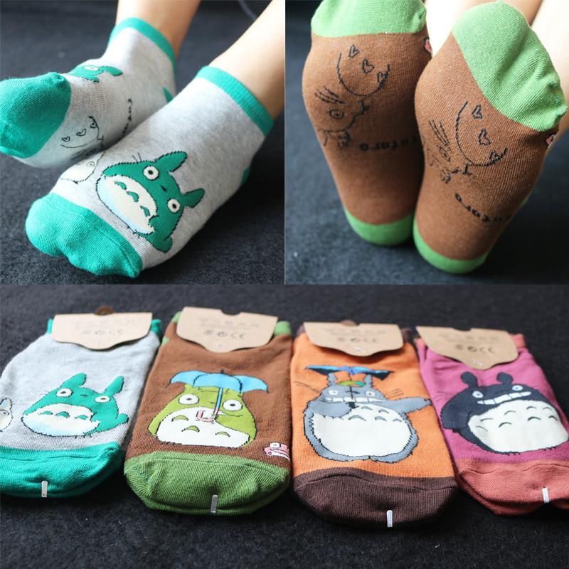 [해외]이웃집 토토로 코스프레 만화 양말 줄무늬 만화 토토로 양말 소녀 양말 재미있는 양말 소녀 양말 재미있는/My Neighbor Totoro Cosplay socks plaid striped cartoon totoro Los lot socks summer casua