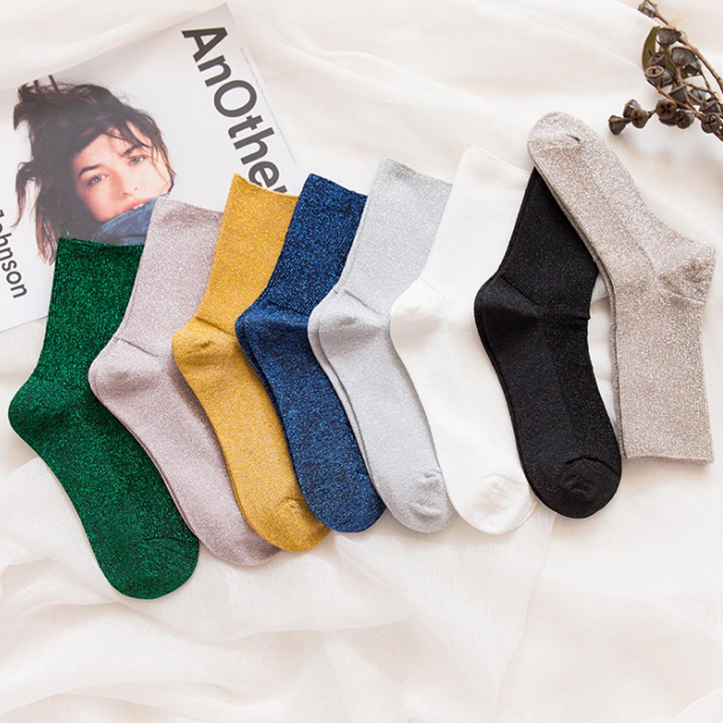 [해외]저렴 한 5pcs / set 일본 스타일 하라주쿠 여성 솔리드 양말 100 % 코 튼 가을 겨울 반짝이 발목 양말 튜브 발 착용 Hight 품질/Cheap 5pcs/set Japan Style harajuku Women Solid Socks 100% cotton