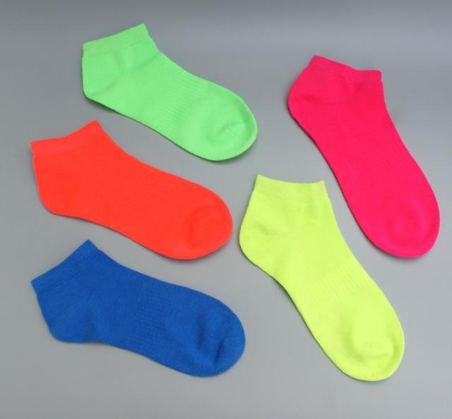 [해외]5 쌍 여성 양말 양말 짧은 양말 소녀 부드러운 목화 네온 형광색/5 pairs Women Ankle Socks short sock Girls soft cotton neon Fluorescence colors