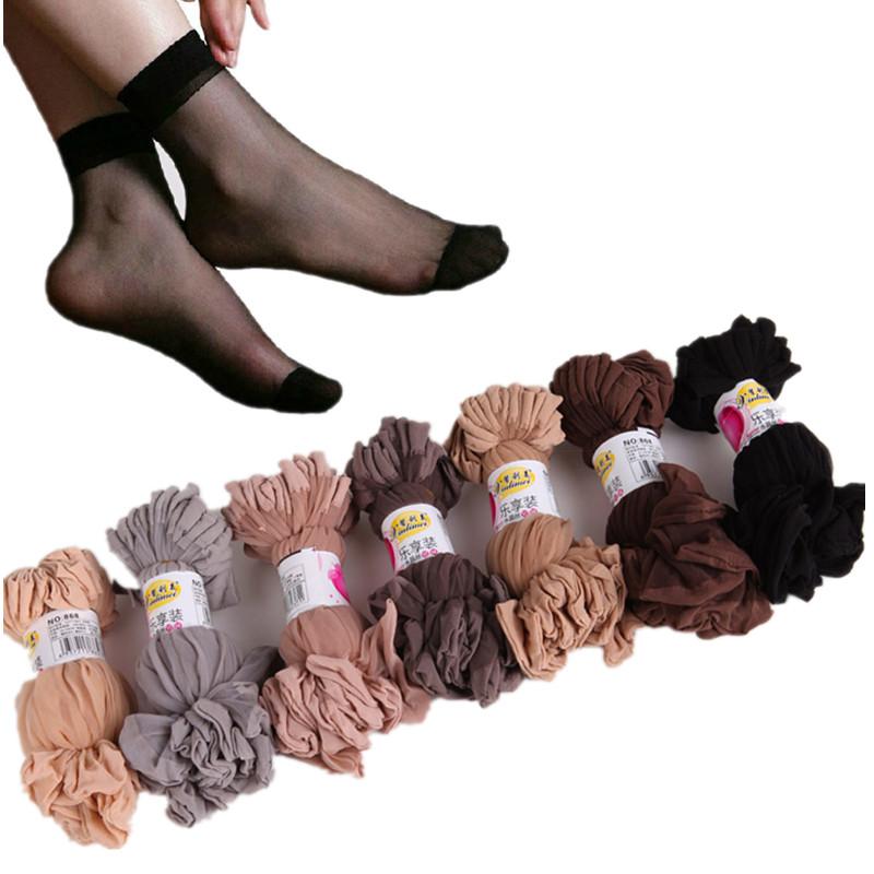 [해외]20 쌍 / 많이 여름 2018 여성용 짧은 양말 초박형 투명 크리스탈 실크 양말 검은 색 나일론 짧은 양말 여성 양말/20 pairs/lot  Summer 2018 Women&s Short Socks Ultrathin Transparent Crystal Sil