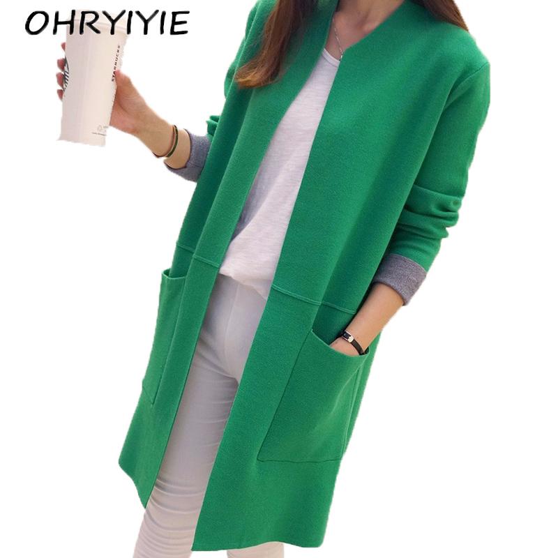 [해외]OHRYIYE 여성 스웨터 롱 가디건 2017 새로운 패션 가을 겨울 긴 Retail 느슨한 니트 카디건 여성 스웨터 롱 코트/OHRYIYIE Women Sweater Long Cardigan 2017 New Fashion Autumn Winter Long Sl