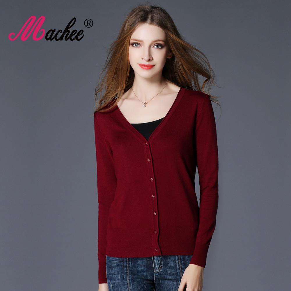 [해외]2017 새로운 인기 봄 여성 스웨터 탑스 패션 니트 긴 Retail V- 목 솔리드 느슨한 크기 캐주얼 여자 카디 건 스웨터/2017 New Top Selling Spring Woman Sweater Tops Fashion Knitted Long Sleeve