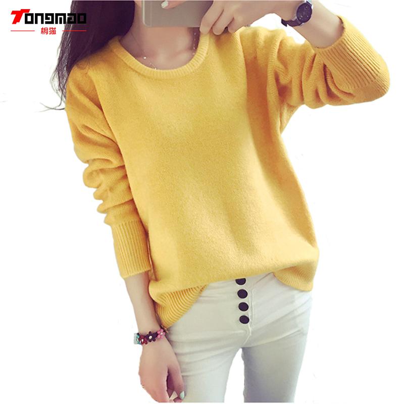 [해외]2016 여성 가을?? 신상품 & A, 소프트 여성 스웨터 니트 겨울 캐시미어 혼합 캔디 컬러 스웨터 긴 Retail O-목 따뜻한 풀오버/2016 Women New Autumn&Winter Cashmere Blend Candy Color Swea