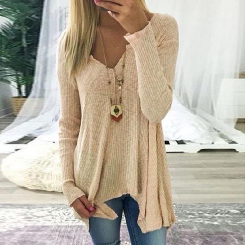 [해외]NEW 가을 겨울 인두 탑 여성 & S 니트 느슨한 스웨터 V 넥 롱 슬리브 풀오버 여성 패션 점퍼 WS3536C/NEW Autumn Winter Causal Tops Women&S Knitted Loose Sweater V-Neck Long Sleeve