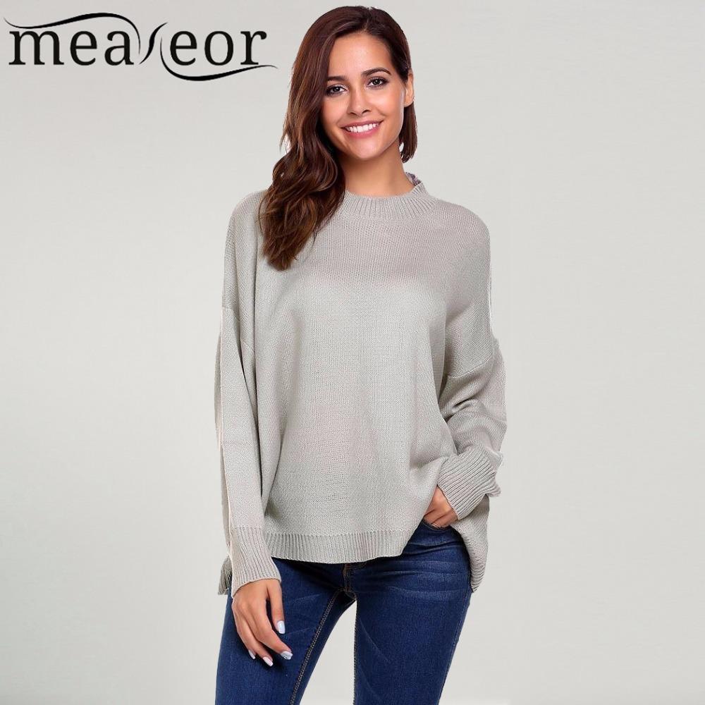 [해외]Meaneor 여성 루즈 한 스웨터 캐주얼 긴 Retail 드롭 어깨 오버 사이즈 솔리드 루스 풀오버 따뜻한 겨울 가을 스웨터 New Top/Meaneor Women Loose Sweater Casual Long Sleeve Drop Shoulder Oversi