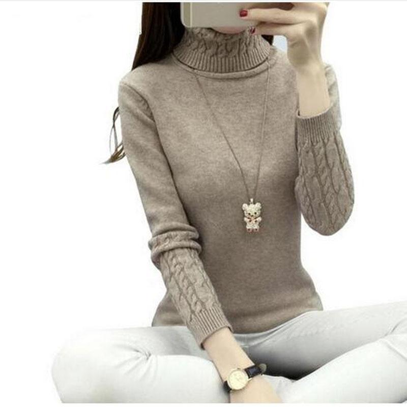 [해외]가을 겨울 패션 여성 스웨터 터틀넥 스웨터 여성 트위스트 짙은 슬림 솔리드 컬러 풀 오버 스웨터 AC283/Autumn Winter Fashion Women Sweaters Turtleneck Sweater Women Tops Twisted Thickening