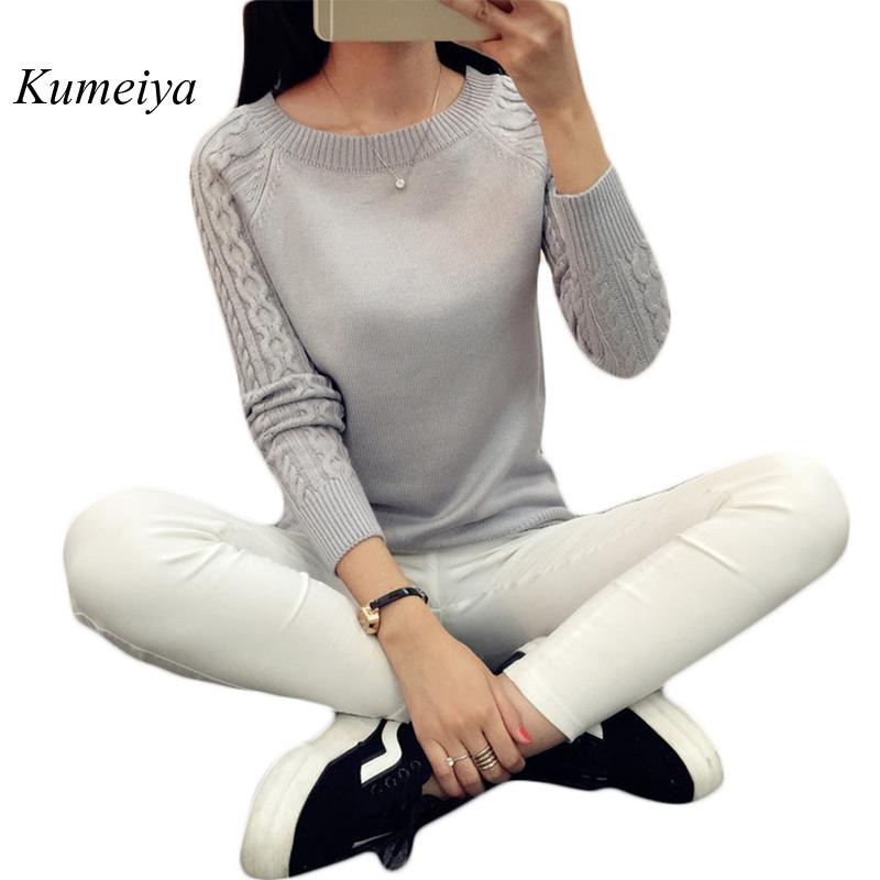 [해외]여자 스웨터 2017 가을 겨울 니트 스웨터와 풀오버 Femme 긴 Retail 의류 기본 탑스 숙녀 점퍼 브랜드/Womens Sweaters 2017 Autumn Winter Knitted Sweaters And Pullovers Femme Long Sleev