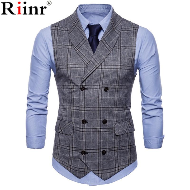 [해외]남성용 새 도착 드레스 조끼 슬림 피트 맘대로 조끼 조끼 남성 조끼 Gilet 옴 캐주얼 민Retail 공식 비즈니스 재킷/New Arrival Dress Vests For Men Slim Fit Mens Suit Vest Male Waistcoat Gilet