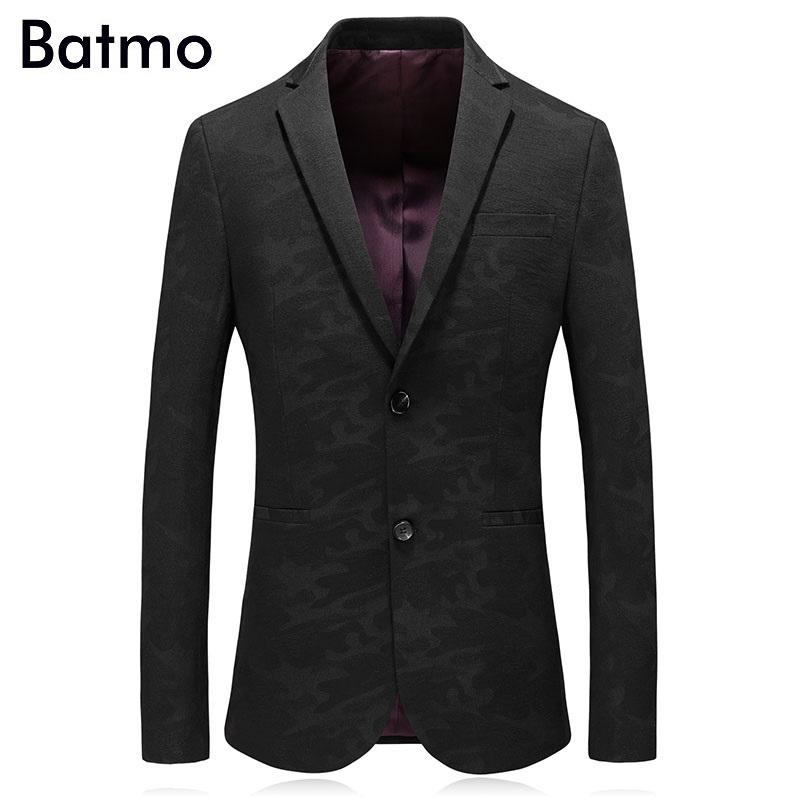 [해외]Batmo 2018 가을 고품질 캐주얼 위장복 남성, 남성 캐주얼 블레 이저, 남성 자켓 플러스 크기 M-3XL 8862/Batmo 2018 new arrival autumn high quality casual camouflage suits men,men`s c