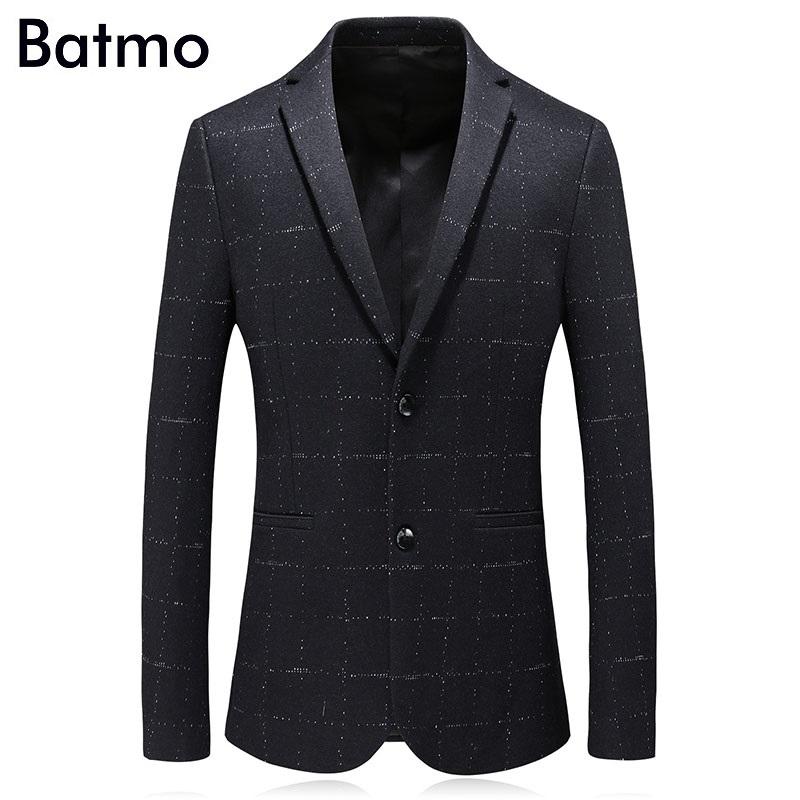 [해외]Batmo 2018 겨울 고품질 울 양피지 두꺼운 캐주얼 정장 남자, 남자 캐주얼 블레 이저, 남자 자켓 사이즈 M - 3XL 8829/Batmo 2018 new arrival winter high quality wool palid thick casual sui