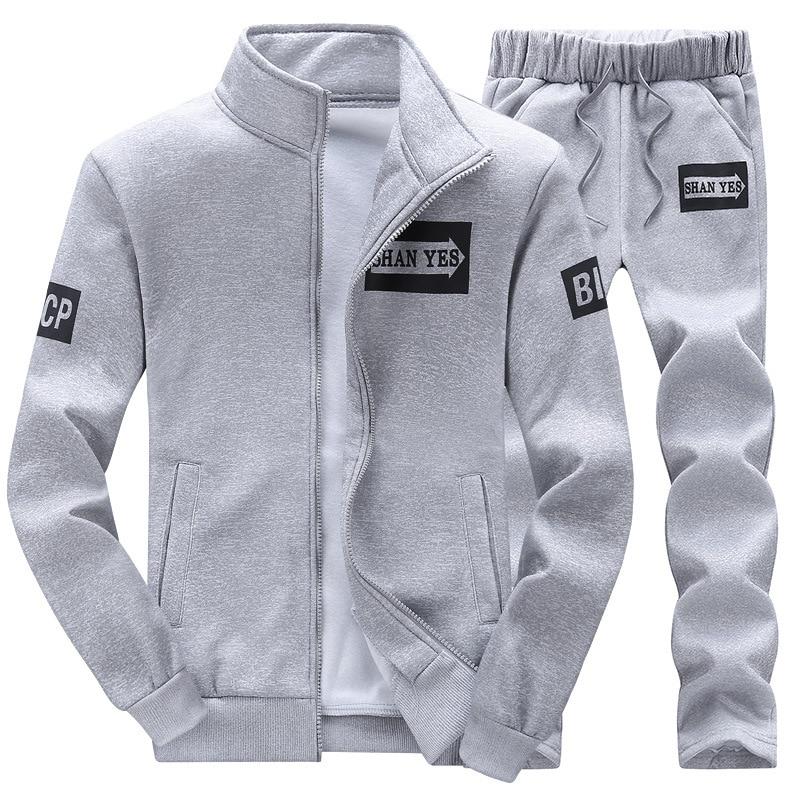 [해외]Fashion Mens Tracksuit Long-Sleeved Jacket + Pants Sets Spring Casual Hip Hop Sweatshirt Hooded Male Suit Large Size S-4XL/Fashion Mens