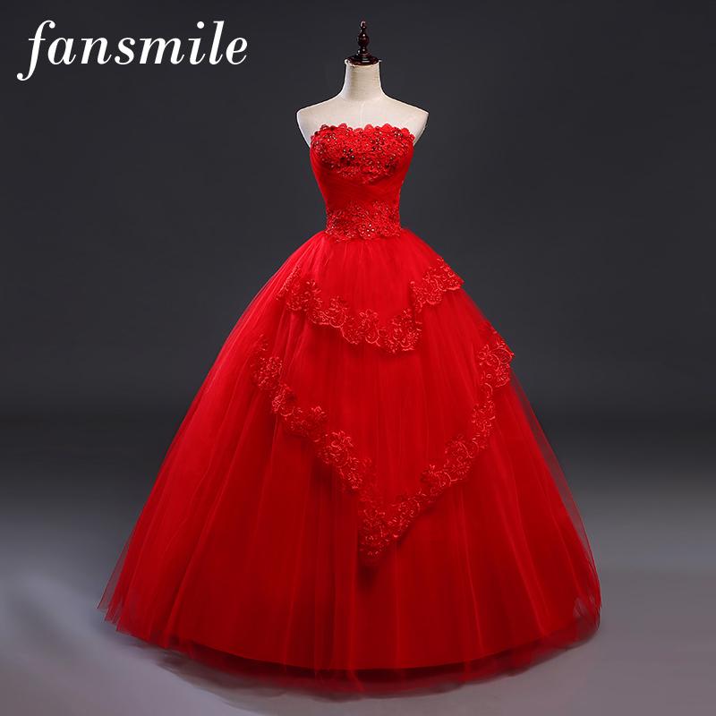 [해외]Fansmile 저렴한 레드 VintageLace 웨딩 드레스까지 Vestidos de Novia 2017 플러스 사이즈 50 아래의 신부 가운 FSM - 275F/Fansmile Cheap Red VintageLace Up Wedding Dresses Vest