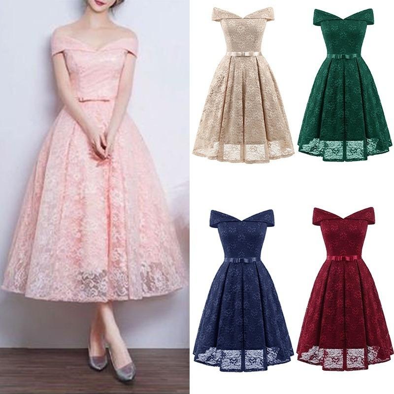 [해외]귀가 드레스 CG00117 2018 우아한 부르고뉴 라인 오프 어깨 레이스 파티 드레스 짧은 Vestido Corto Azul Scoop/Homecoming Dresses CG00117 2018 Elegant Burgundy A Line Off Shoulder