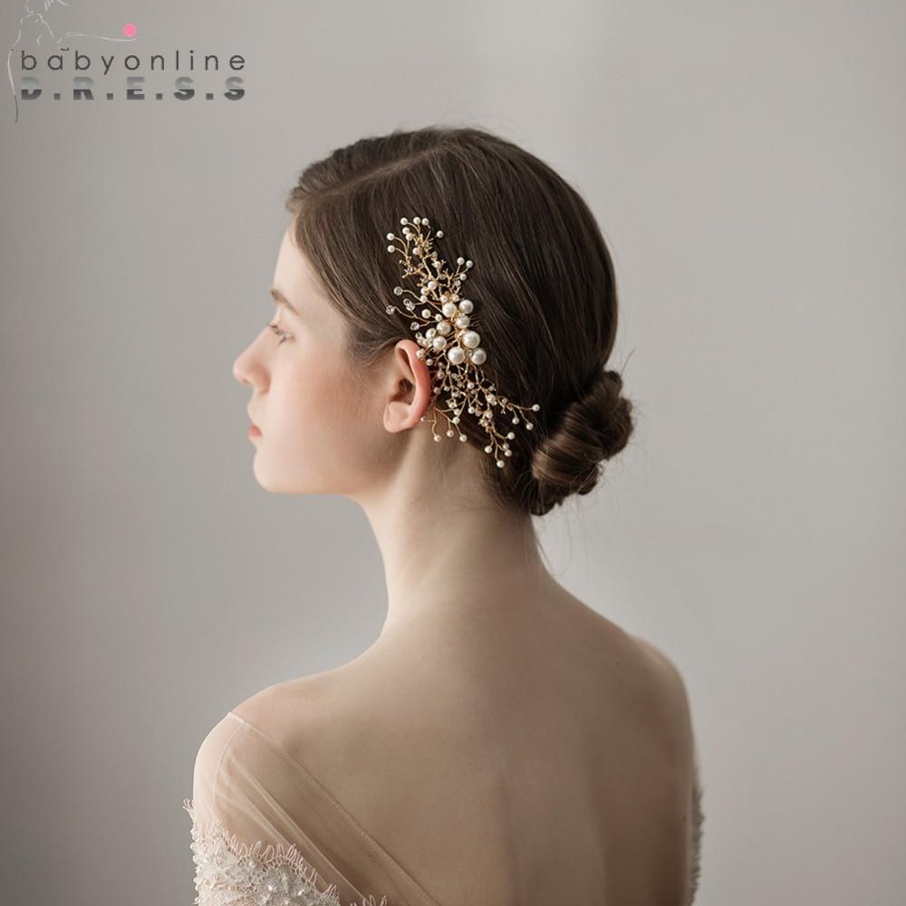 [해외]새로운 2018 Matsuba 꽃 진주 페르시 빗 웨딩 헤어 액세서리 웨딩 헤어 액세서리 클립 금속 티아라 드롭 HairPin 클립 머리띠/New 2018 Matsuba Flower Pearl Beaded Comb Bridal Headwear Wedding Ha