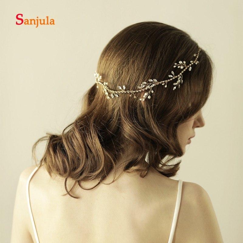 [해외]Rhinestones 진주 웨딩 헤어 밴드 여성을신부 수제 모자를 쓰고 있죠 tocados para el pelo H97/Rhinestones Pearls Wedding Headband for Bridal  Handmade Headwear for Women to