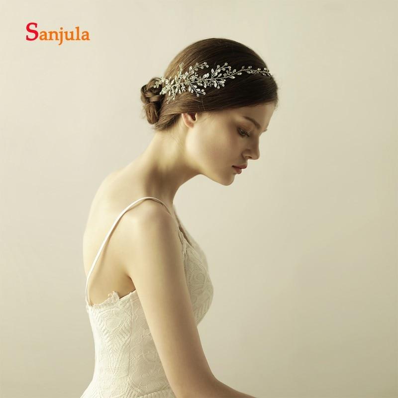 [해외]신부 결정을은색 머리띠 멋진 결혼식 액세서리 신부의 머리 착용 krone haarschmuck H94/Sliver Headband for Bride Crystals Stunning Wedding Accessories Bridal Head Wear krone ha