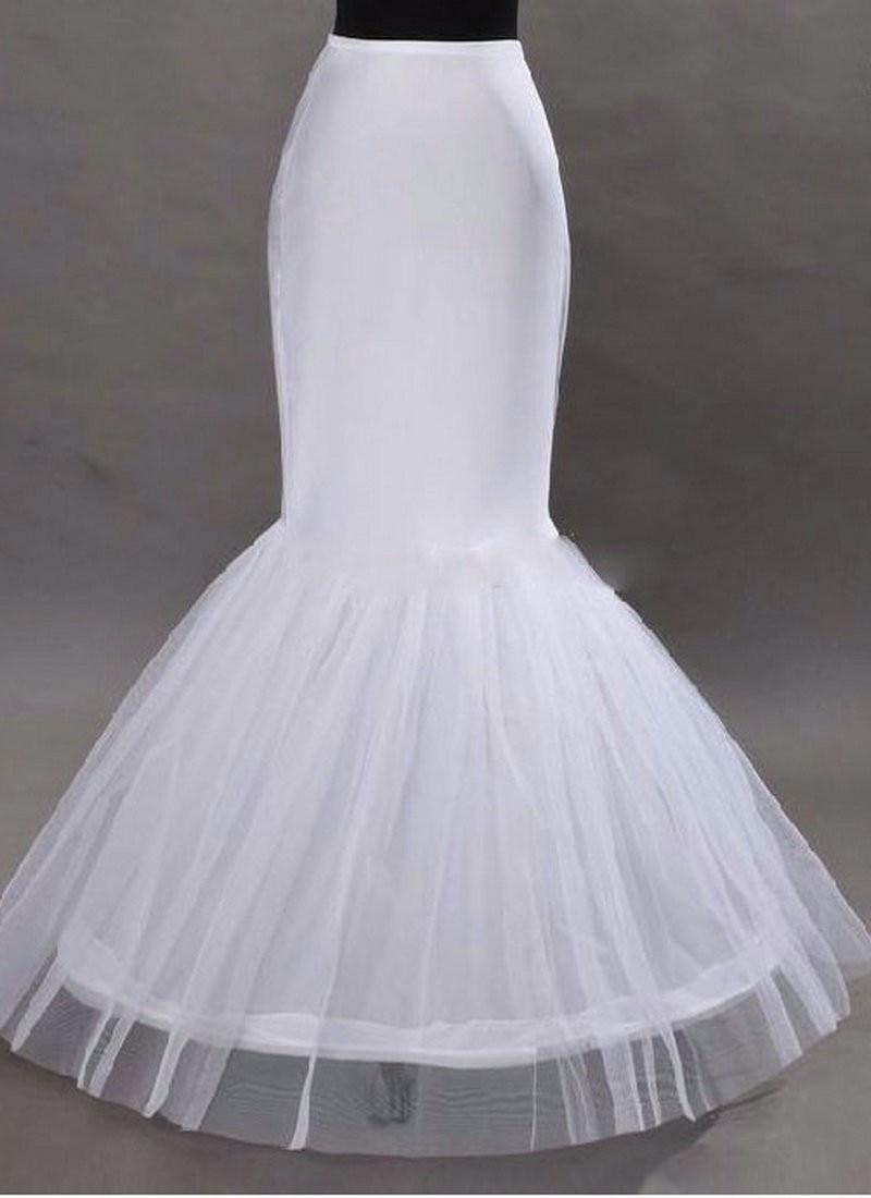 [해외]우아한 인어 페티코트 1 후프 뼈 탄성 웨딩 드레스 Crinoline 신부의 페티코트 저렴한 2019 Underskirt/Elegant Mermaid Petticoat 1 Hoop Bone Elastic Wedding Dress Crinoline  Bridal