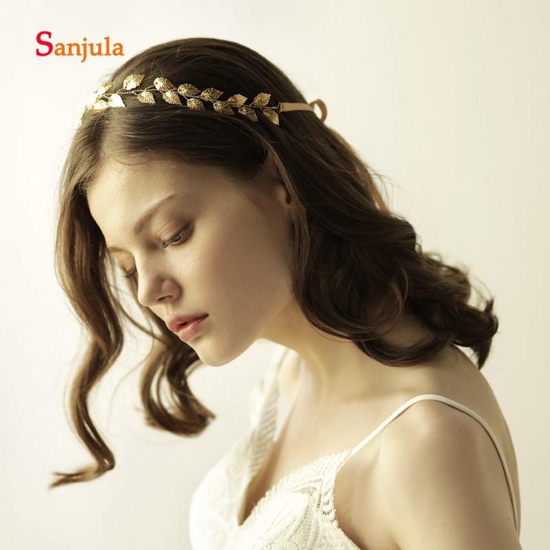 [해외]골드 Leavs 모양 신부 머리띠 리본 챠밍 여성 Headpiece 간단한 헤어 액세서리 frete gratis H96/Gold Leavs Shape Bridal HeadbandRibbons Charming Women Headpiece Simple Hair Ac