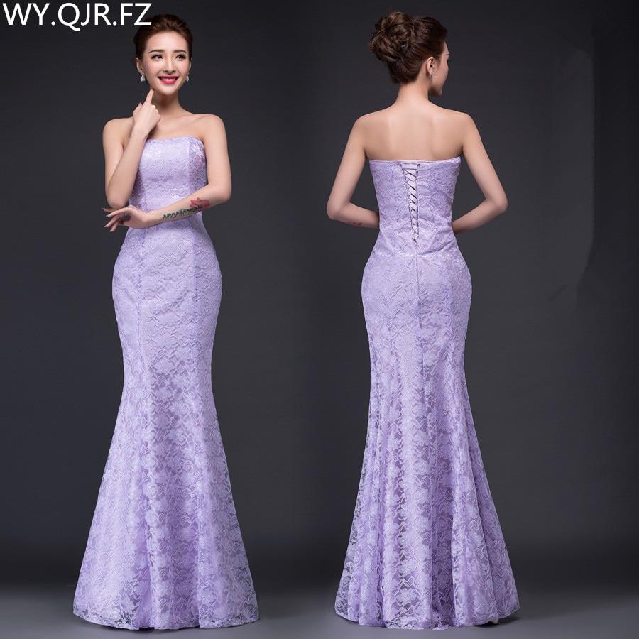 [해외]DM-2670Z # 봄 여름 새로운 긴 드레스 흰색과 빨간색 2019 꼬리 섹시 슬림 신부 바이올렛 토스트 정장 웨딩 드레스 도매 저렴한