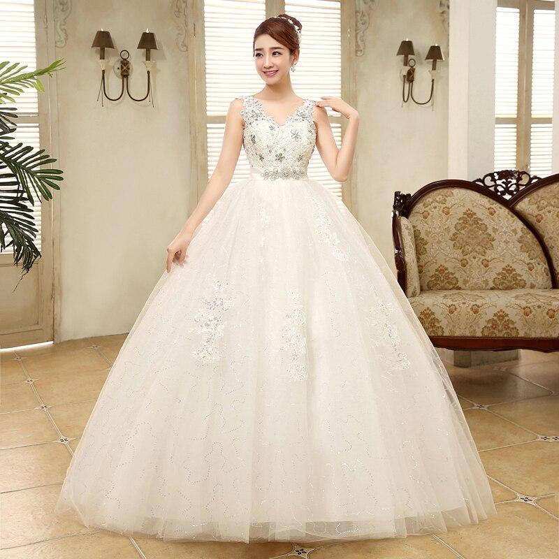 [해외]웨딩 드레스 신부 새로운 대형 v 목 높은 허리 임신 한 여자 레이스 웨딩 드레스 공 가운
