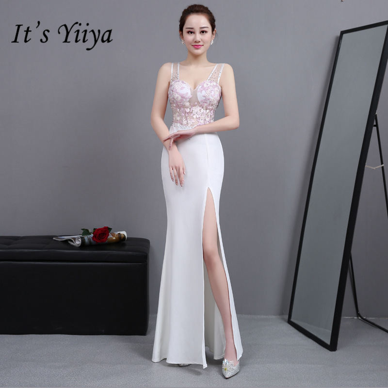 [해외]그것은 YiiYa 패션 자 수 인 어 공주 드레스 Vestidos 섹시 한 민Retail 트럼펫 저녁 가운 H027/It`s YiiYa Fashion Embroidery Mermaid Dresses Vestidos Sexy Sleeveless  Trumpet E