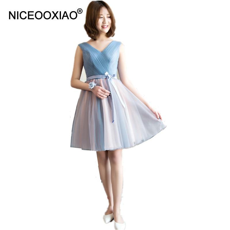 [해외]NICEOOXIAO 짧은 들러리 드레스 6 디자인 레이스 업 속옷 파티 볼 가운 2018 여성 패션 웨딩 공식 드레스/NICEOOXIAO  Short Bridesmaid Dresses 6 Designs Lace Up Sashes Party Ball Gown 20