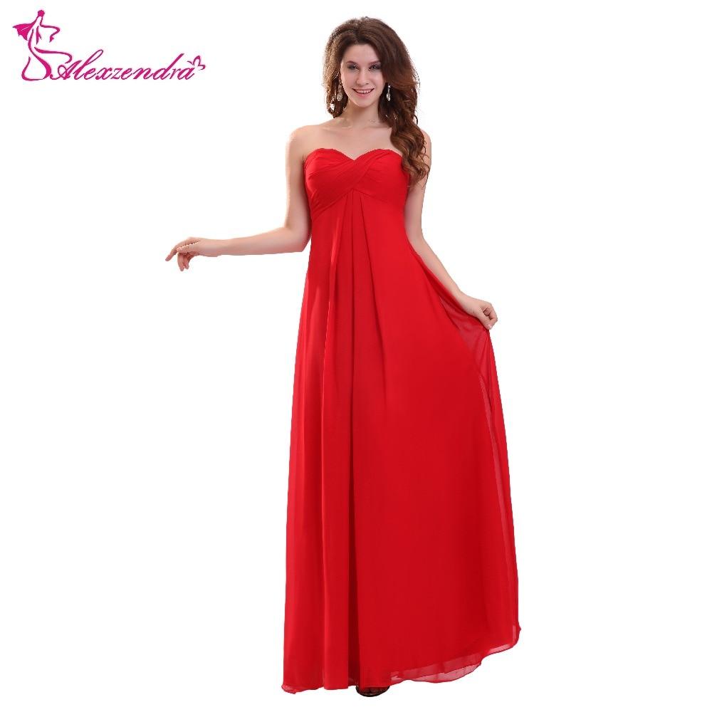 [해외]Alexzendra 간단한 긴 빨간 신부 들러리 드레스 웨딩 파티 가운 들러리 들러리 플러스 사이즈/Alexzendra Simple Long Red Bridesmaid Dress for Wedding Party Gown Bridesmaid Gown Plus Si