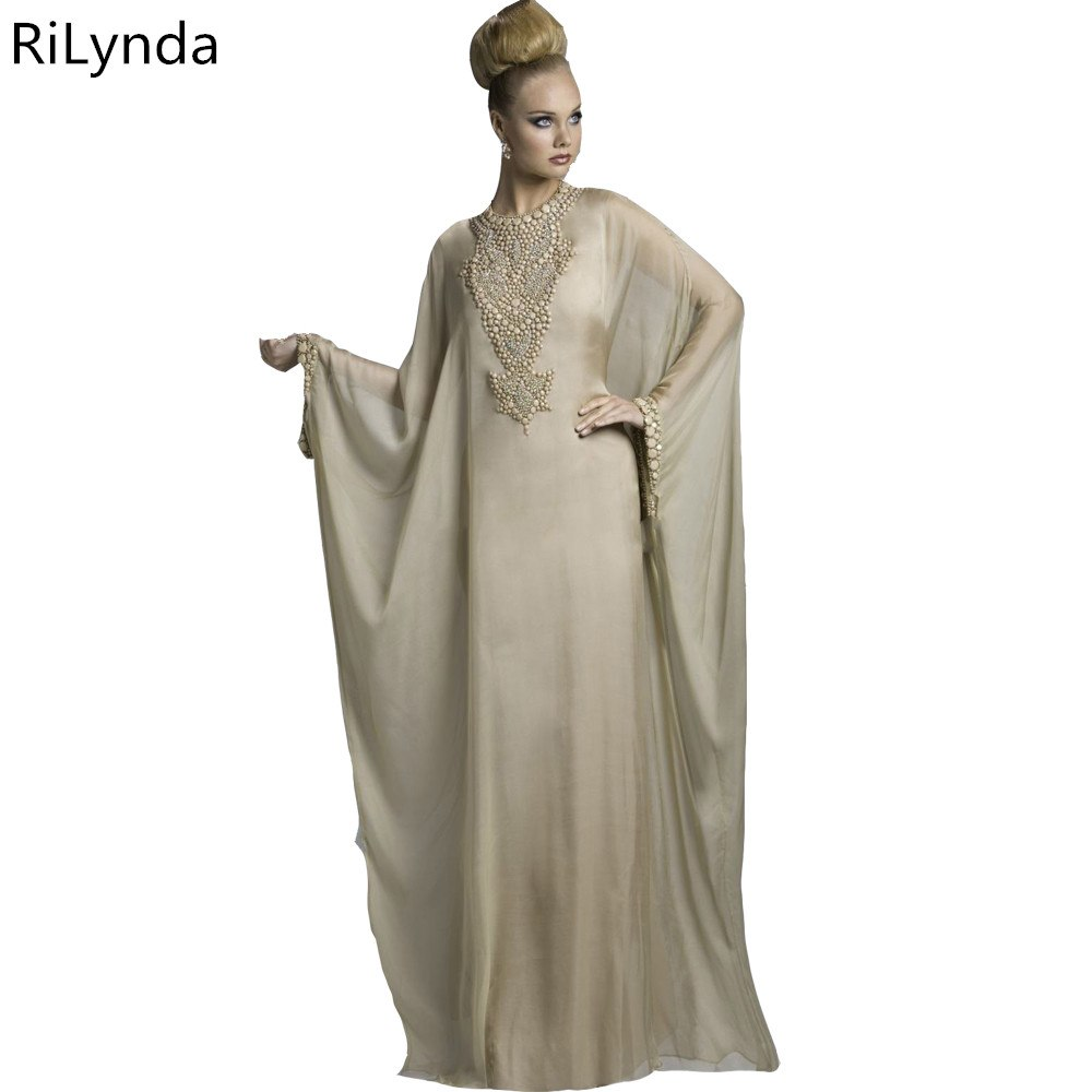 [해외]?새로운 시폰 도착 단추 자수 라인 두바이 모로코 Kaftan Abaya Jilbab 이슬람 옐로우 이브닝 드레스/ New Chiffon Arrival Button Embroidery A Line Dubai Moroccan Kaftan Abaya Jilbab I