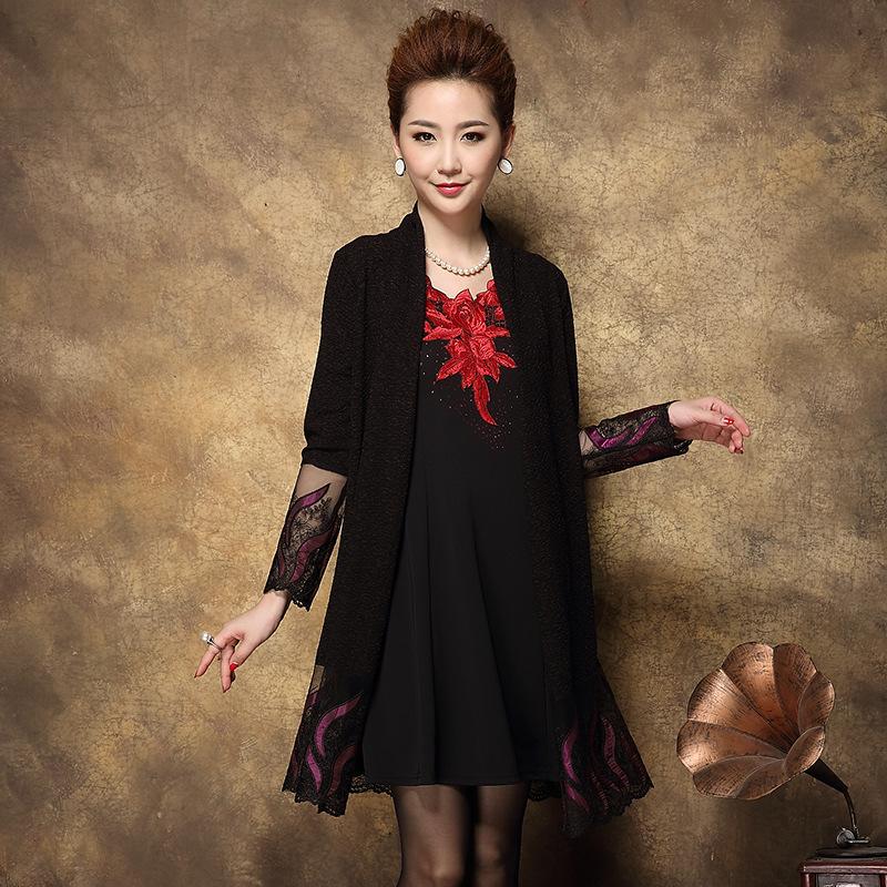 [해외]그것은 신부 드레스의 Yiiya 어머니 플러스 크기 봄 가을 2 조각 세트 자수 패션 우아한 어머니 드레스 M016/It`s Yiiya Mother of the Bride Dresses Plus Size Spring Autumn 2 Piece Set Embroi
