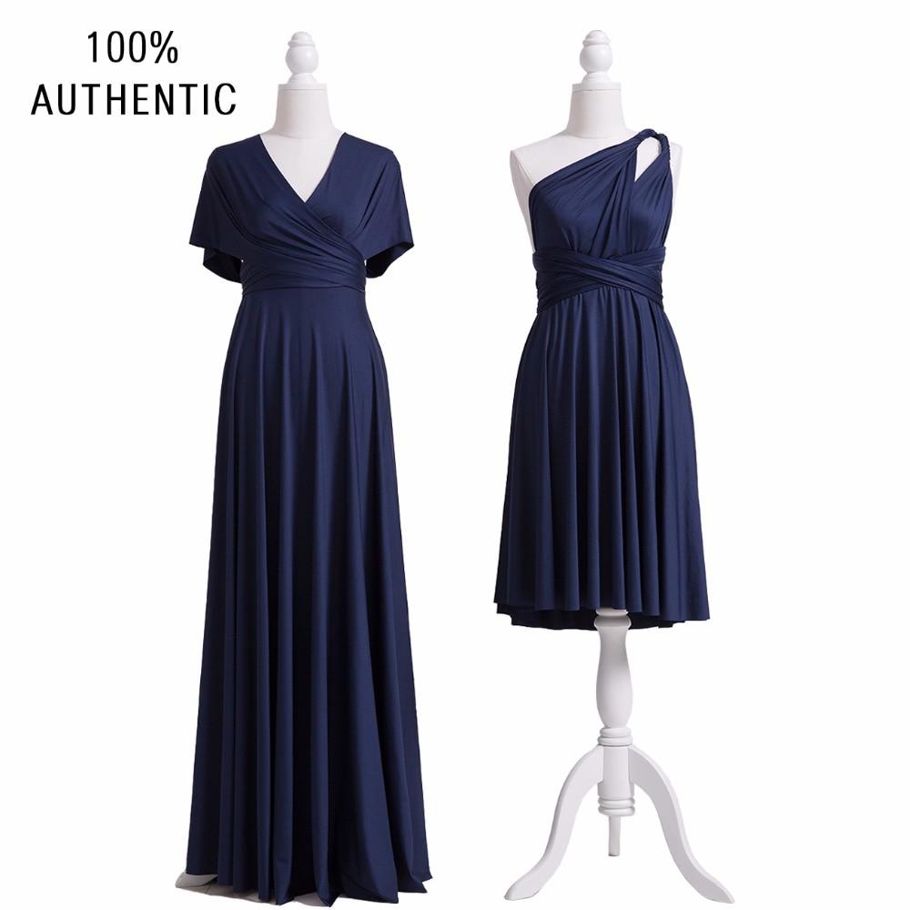 [해외]네이비 블루 들러리 드레스 무한 맥시 롱 드레스 멀티 웨이 드레스 컨버터블 랩 드레스 슬리브 스타일/Navy Blue Bridesmaid Dress Infinity Maxi Long Dress Multiway Dress Convertible Wrap DressS