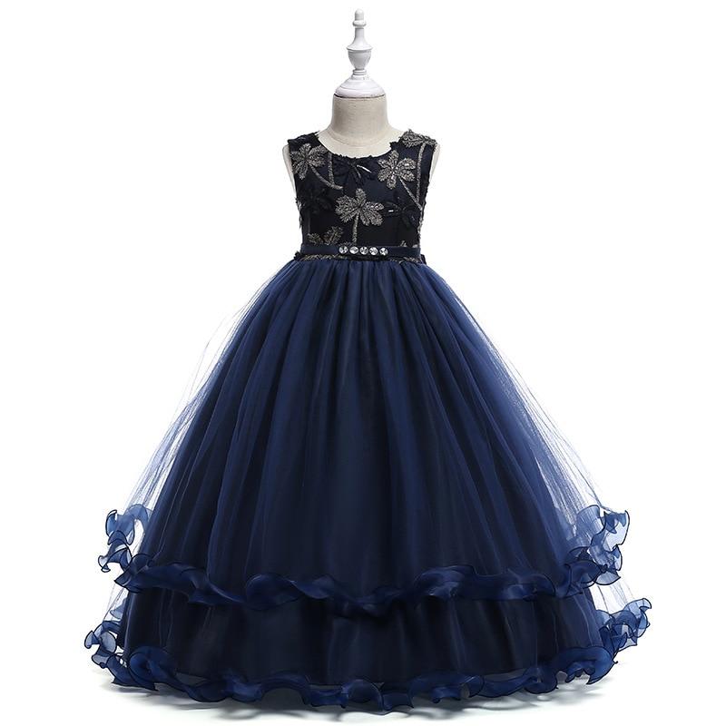 [해외]2019 꽃 파는 소녀 DressesBow 파란 파티 복장 예쁜 여자를 위해 예쁜 우아한 형식 여름 가운/2019 New Arrival Flower Girl DressesBow Blue Party Dress For Little Girl Pretty Elegant