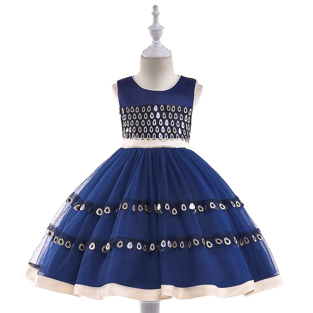 [해외]레이스 appliques 볼 가운 성능 드레스 구슬 장식 구슬 장식 꽃 소녀 드레스 생일 파티 드레스/Lace appliques ball gown performance dresses little girl beading sash flower girl dresses