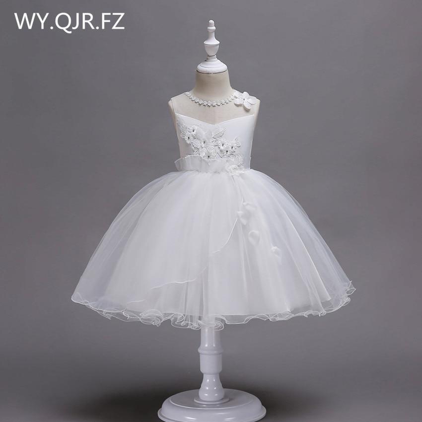 [해외]PTH-BH02Ball 가운 화이트 로즈 꽃 소녀 드레스 레이스 어린이 성능 드레스 작은 호스트 의상/PTH-BH02Ball Gown White Rose Flower girl dresses lace Children`s performance dress Small