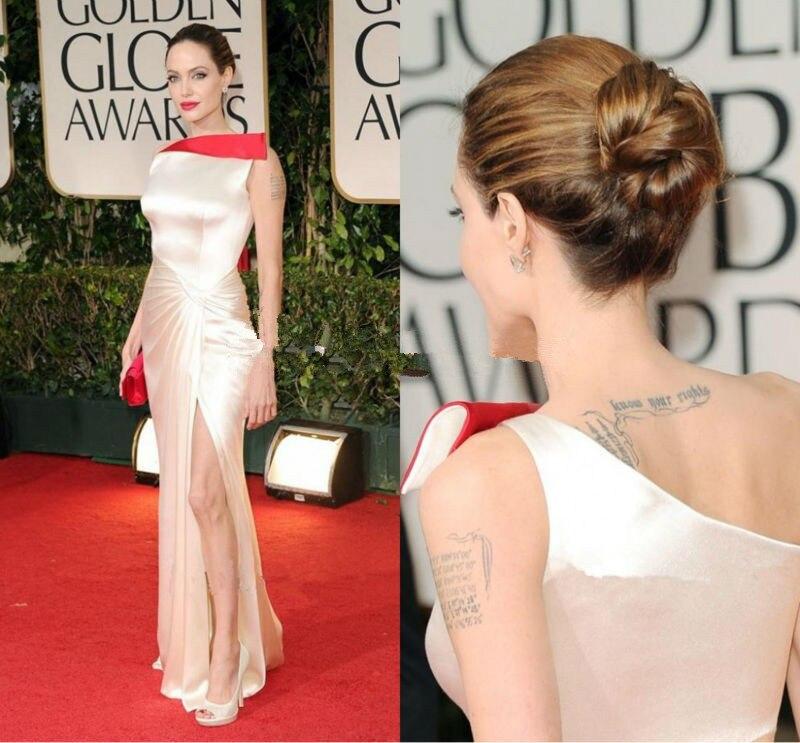 [해외]Celebrity Elegant Soft Satin Mermaid Celebrity Dresses One Shoulder Sexy Side Slit Pleat Evening Dresses Sleeveless Floor Length/Celebrity Elegant
