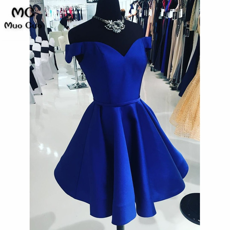 [해외]Ball Gown 2018 Off Shoulder Graduation Homecoming Dresses ShortPleat Homecoming Cocktail Party Dress Short/Ball Gown 2018 Off Shoulder Graduation