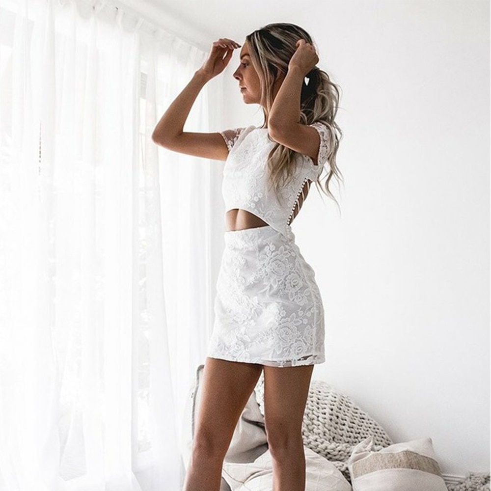 [해외]Bbonlinedress Sexy White Homecoming Dress 2020 In Stock Short Prom Dresses Backless Cocktail Dresses Vestidos de fiesta cortos/Bbonlined