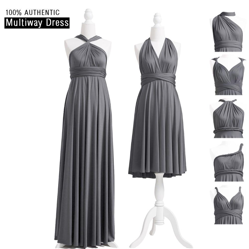 [해외]차콜 그레이의 들러리 드레스 멀티 웨이 긴 드레스 무한대의 맥시 드레스 컨버터블 바닥의 길이 드레스 헤어 스타일/Charcoal Grey Bridesmaid Dress Multiway Long Dress Infinity Maxi Dress Convertible