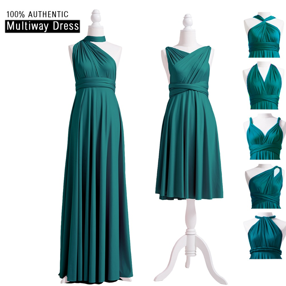 [해외]청록색 신부 들러리 복장 긴 다중 길 복장 무한대 플랩 복장 Convertibel 층 길이 Maxi DressOne 어깨 스타일/Teal Bridesmaid Dress Long Multiway Dress Infinity Plus Wrap Dress Convert