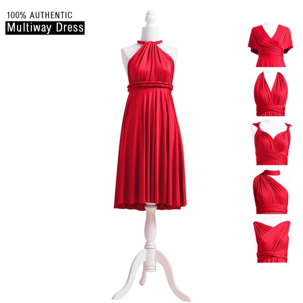 [해외]Red Bridesmaid Dress Infinity Dress Ruby Short 컨버터블 복장 플러스 MultiWay Wrap DressHalter Straps Styles/Red Bridesmaid Dress Infinity Dress Ruby Short