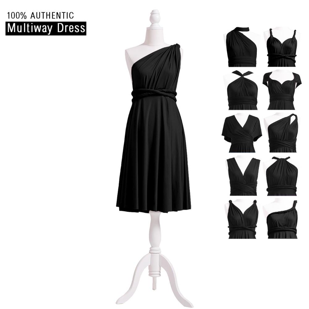 [해외]블랙 신부 들러리 짧은 드레스 인피니티 드레스 컨버터블 복장 MultiWay 랩 DressOne 어깨 스타일/Black Bridesmaid Short Dress Infinity Dress Convertible Dress MultiWay Wrap DressOne