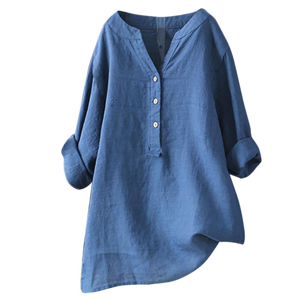 [해외]Womens Tops and Blouses Stand Collar Long Sleeve Shirt Casual Loose Blouse Button Down Tops  Shirts White Black Women BlusasL5/Womens To