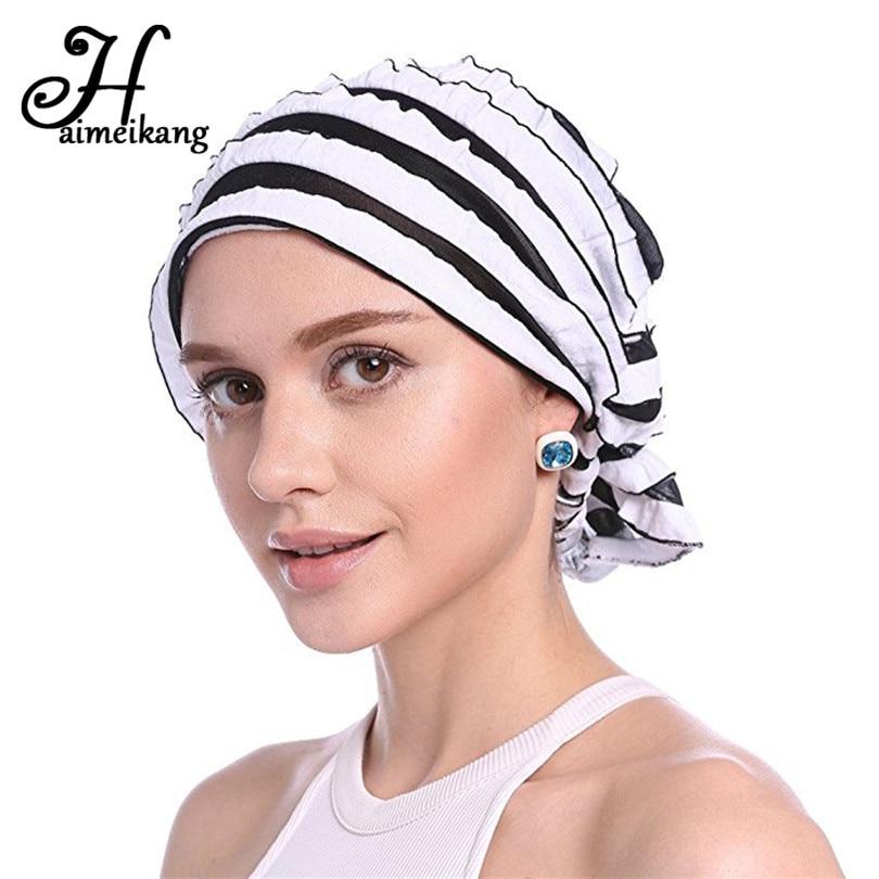 [해외]Haimiekang 패션 레트로 여성 쉬폰 폴드 리플 Chemo 모자 머리띠 스카프 터번 헤드웨어 헤어 밴드 헤드 랩 헤어 액세서리/Haimiekang Fashion Retro Women Chiffon Fold Ripple Chemo Cap Headband Sc
