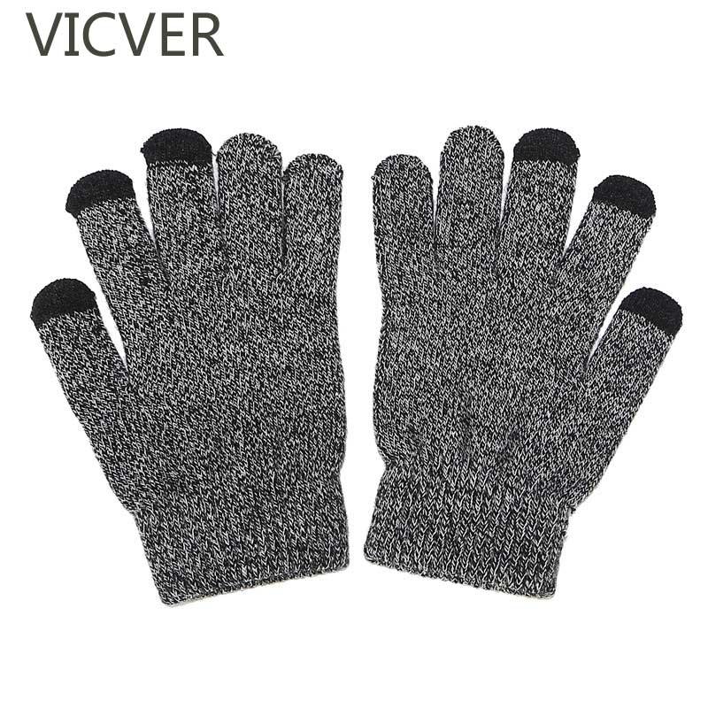 [해외]겨울 터치 스크린 따뜻한 장갑 남자와 여자 캐시미어 양 털 장갑 패션 양모 솔리드 컬러 스트레치 니트 Thicken 장갑/Winter Touch Screen Warm Gloves Men And Women Cashmere Fleece Gloves Fashion W