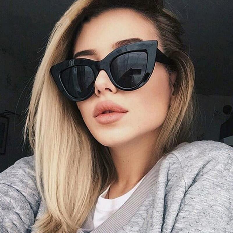 [해외]오미다 레트로 플라스틱 고양이 눈 선글라스 여자 2018 새로운 패션 브랜드 빈티지 숙녀 선글라스 고양이의 눈 여성 핑크 태양 안경/OHMIDA Retro Plastic Cat Eye Sunglasses Woman 2018 New Fashion Brands Vi