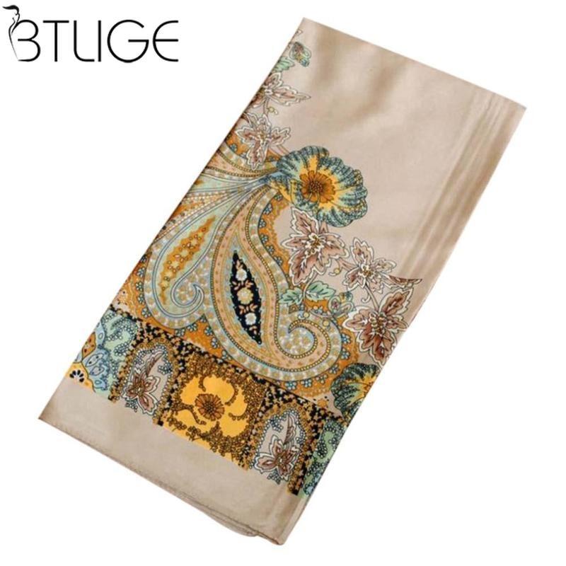 [해외]90CM * 90CM 패션 디자인 스퀘어 실크 스카프 여성 Foulard 인쇄 반다이 숙 녀 어깨 장식 Hijab 우아한 머리 밴드 반지 스카프 포장/90CM*90CM Fashion Design Square Silk Scarf Women Foulard Print