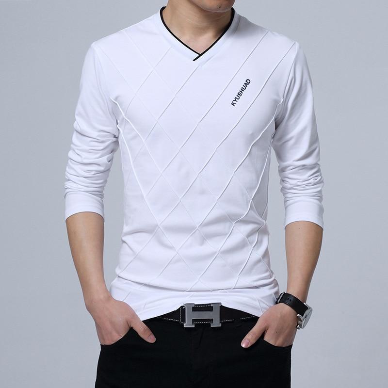 [해외]상위 학년 새로운 패션 남자 v 칼라 폴로 셔츠 솔리드 컬러 슬림 맞는 폴로 남자 긴 Retail 머천다 코튼 캐주얼 폴로 셔츠/Top Grade New Fashion Men v collar Polo Shirt Solid Color Slim Fit Polo Me