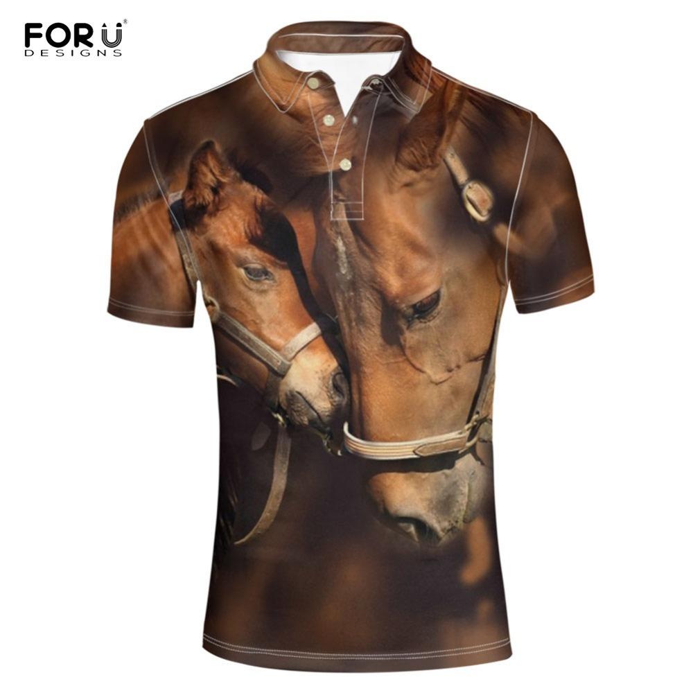 [해외]FORUDESIGNS  Shirt 3D Horse Animal Print Summer Clothing Adult Top Tees  Shirt for Men Short Sleeve Shirts  Homme /FORUDESIGNS  Shirt 3D Horse Ani